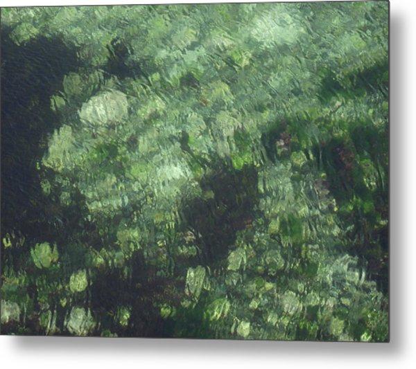 Sea Green Abstract Metal Print