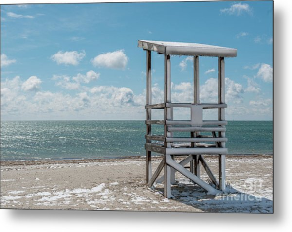 Sea Gull Beach #2 Metal Print