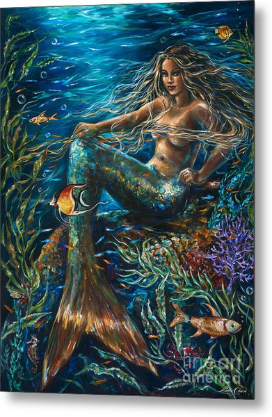 Sea Jewels Mermaid Metal Print