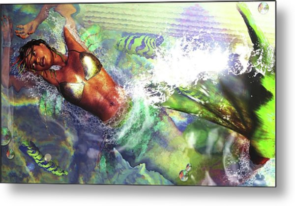 Metal Print featuring the digital art Sea Lioness by Baroquen Krafts