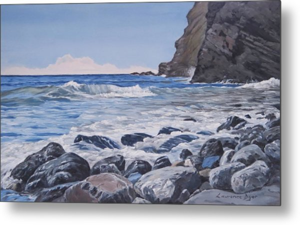 Sea Pounded Stones At Crackington Haven Metal Print