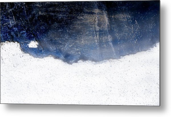 Sea, Satellite - Coast Line On Blue Ocean Illusion Metal Print