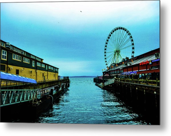 Sea Side, Seattle 2 Metal Print