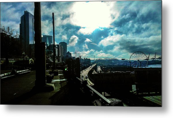 Sea Side, Seattle  Metal Print