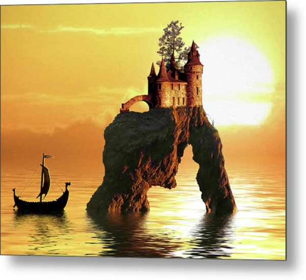 Sea Stack Castle Metal Print