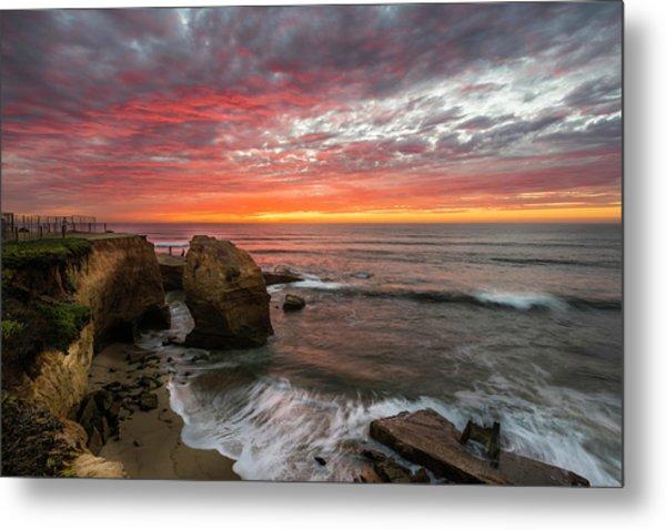 Sea Stack Sunset Metal Print