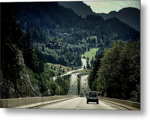Sea To Sky Highway Metal Print