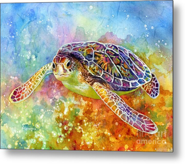 Sea Turtle 3 Metal Print