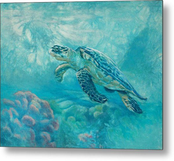 Sea Turtle Metal Print by Vicky Russell