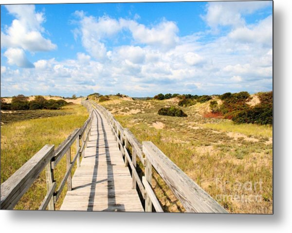 Seabound Boardwalk Metal Print