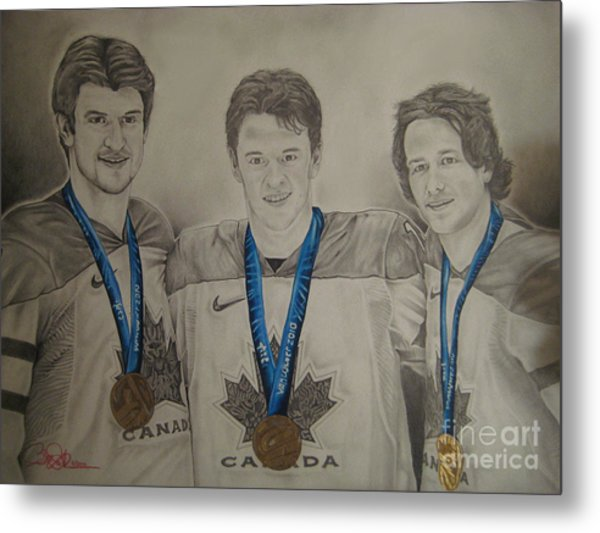 Seabrook Toews Keith Gold Medal Metal Print by Brian Schuster