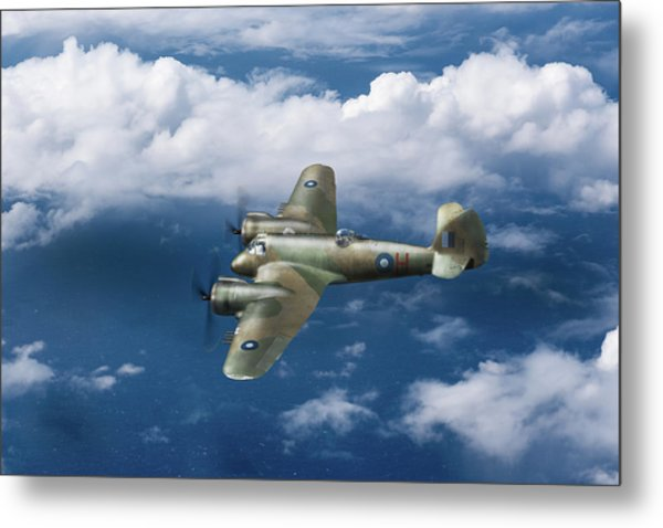 Metal Print featuring the photograph Seac Beaufighter by Gary Eason