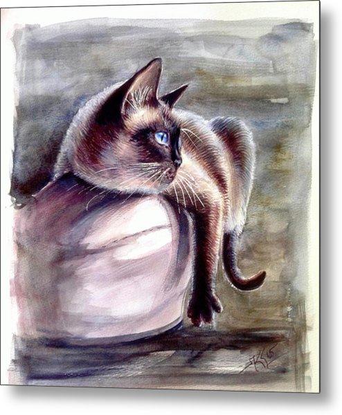 Siamese Cat 2 Metal Print