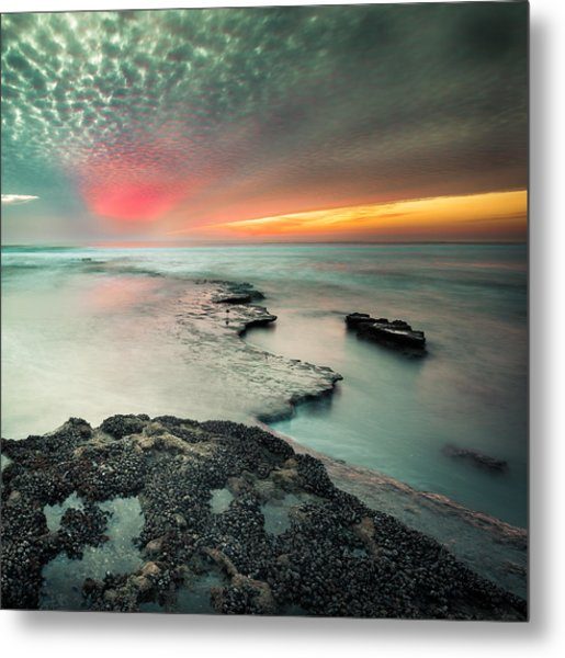 Searchlight Sunset Metal Print