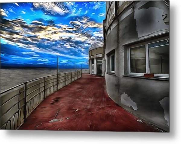 Metal Print featuring the painting Seascape Atmosphere - Atmosfera Di Mare Dig Paint Version by Enrico Pelos