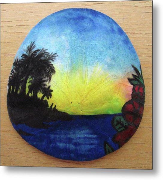 Seascape On A Sand Dollar Metal Print