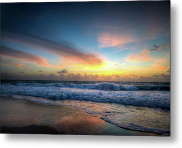Seascape Sunrise Metal Print