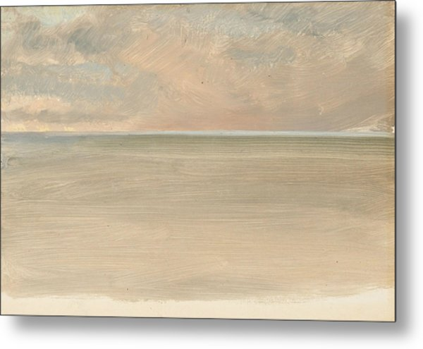 Seascape With Icecap In The Distance Metal Print