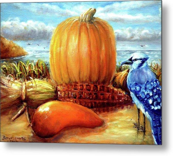 Seashore Pumpkin  Metal Print