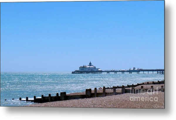 Seaside And Pier Metal Print