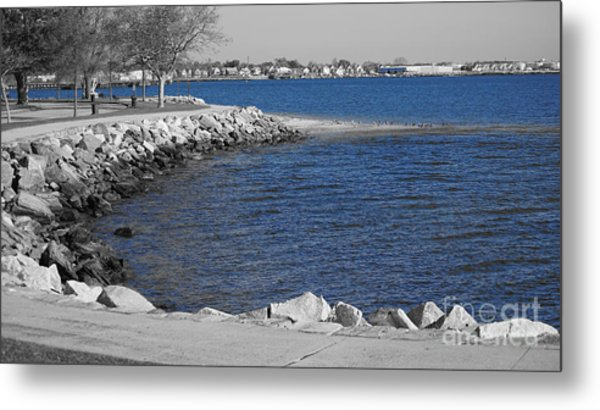 Seaside Blue Metal Print