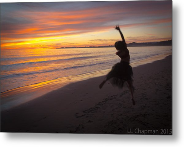 Seaside Dancer Metal Print