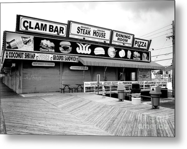 Seaside Heights Boardwalk Dining Metal Print