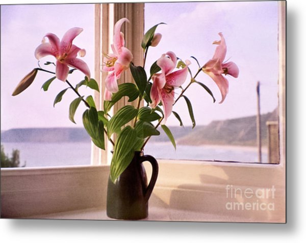 Seaside Lilies Metal Print