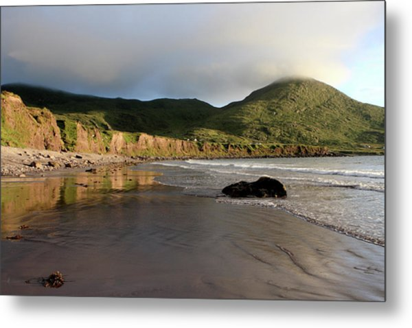 Seaside Reflections, County Kerry, Ireland Metal Print