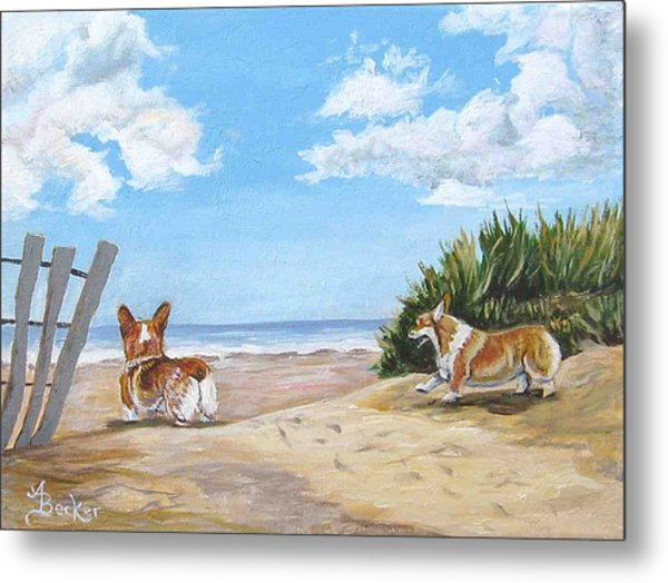 Seaside Romp Metal Print by Ann Becker