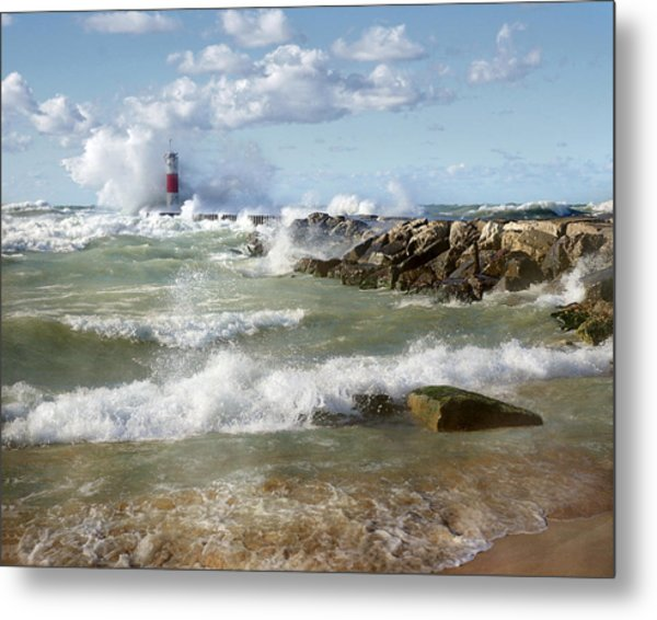 Seaside Splash Metal Print