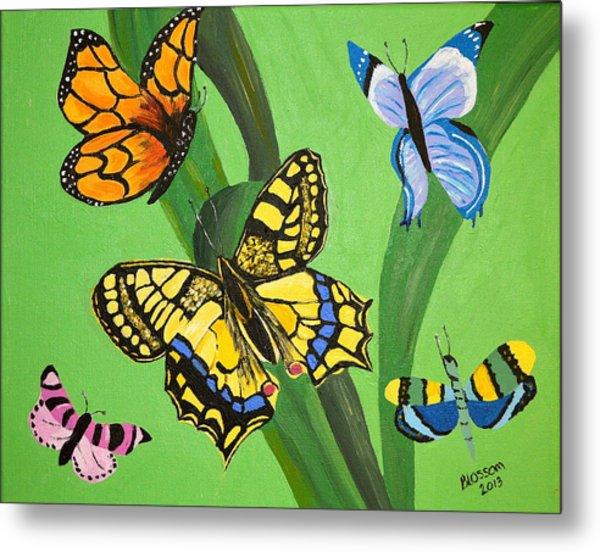 Season Of Butterflies Metal Print