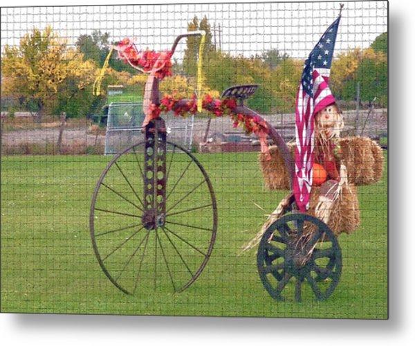 Seasonal Antique Tricycle 1 Metal Print by Steve Ohlsen