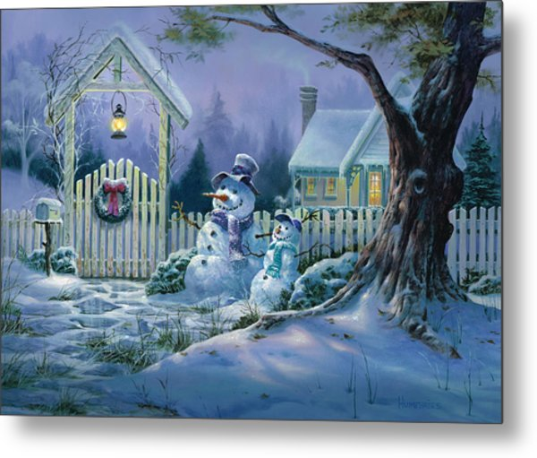 Season's Greeters Metal Print