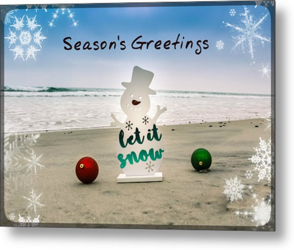 Metal Print featuring the photograph Season's Greetings by Alison Frank