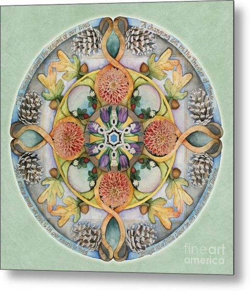 Seasons Mandala Metal Print