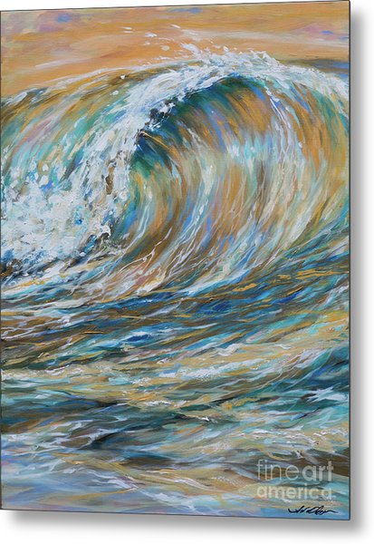 Seaspray Gold Metal Print