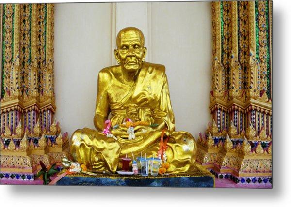 Seated Holy Man At Koh Samui Metal Print