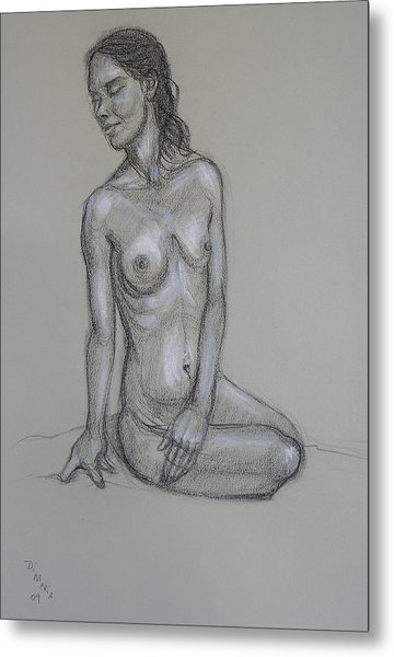 Seated Nude 6 Metal Print by Donelli  DiMaria