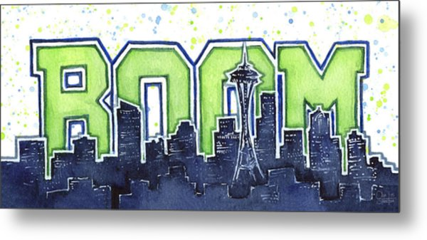 Seattle 12th Man Legion Of Boom Painting Metal Print