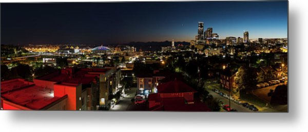 Metal Print featuring the photograph Seattle City And Port by William Dickman