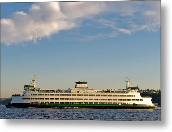Seattle Ferry Metal Print by Tom Dowd