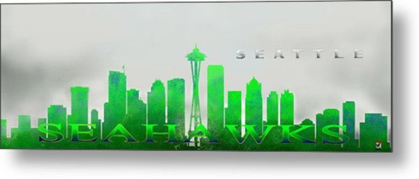Seattle Greens Metal Print