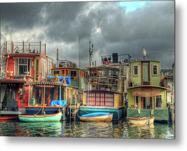 Seattle Houseboats Fine Art Photograph Metal Print