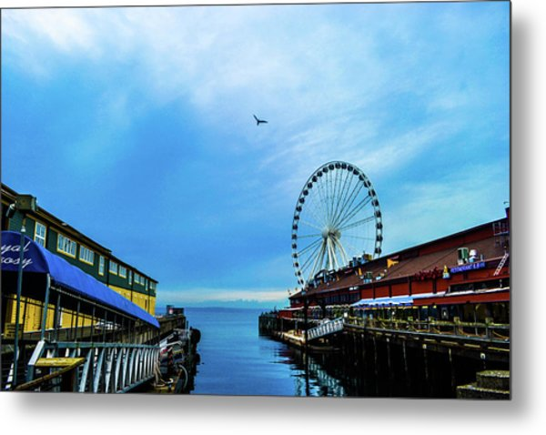 Seattle Pier 57 Metal Print