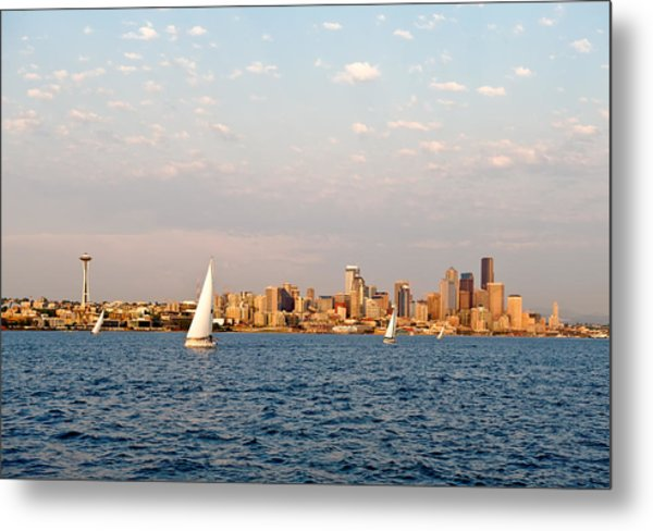 Seattle Puget Sound Metal Print by Tom Dowd