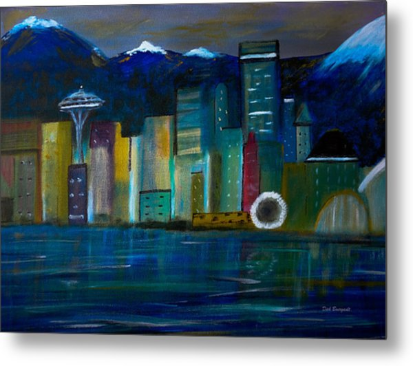 Seattle Skyiline Metal Print