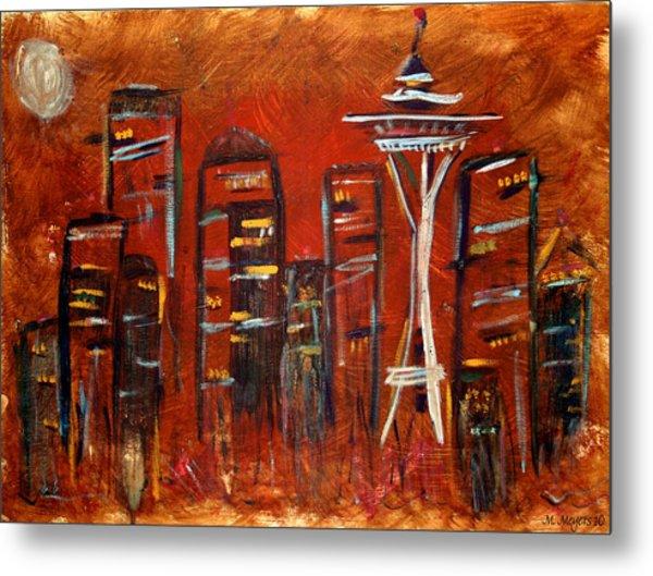 Seattle Skyline Metal Print by Melisa Meyers
