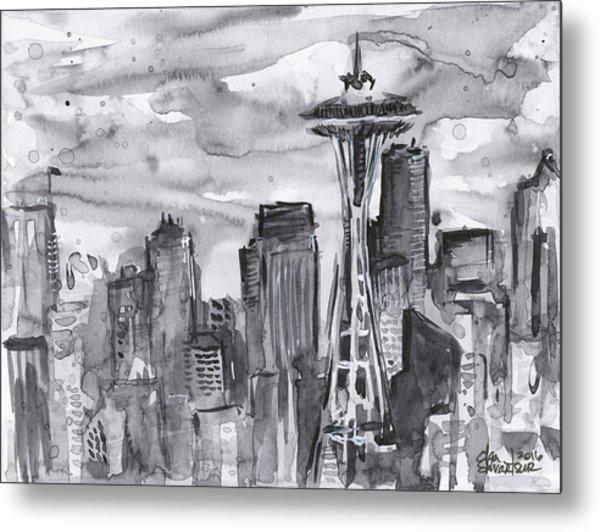 Seattle Skyline Space Needle Metal Print