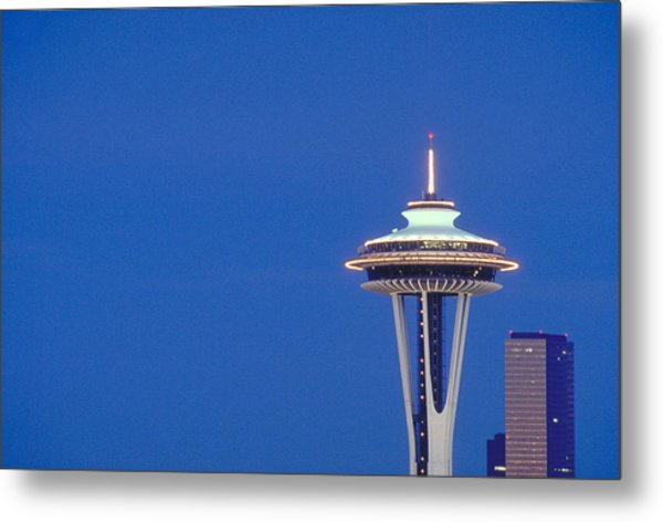 Seattle Space Needle Metal Print by Greg  West